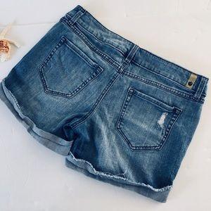 Lauren Conrad cut offs jean shorts distressed